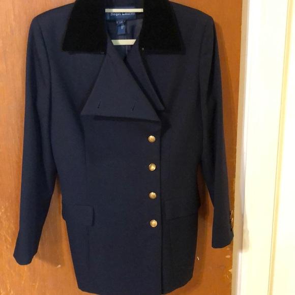 Ralph Lauren Pea Body gold buttons wool Italy Coat